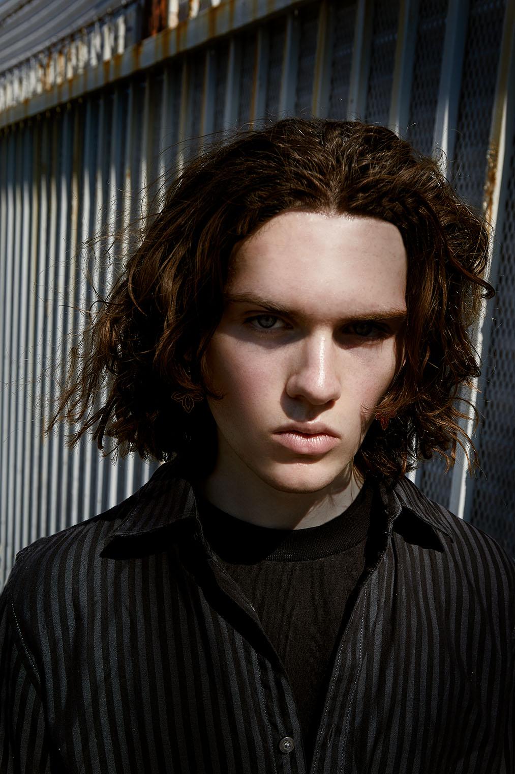 man with long hair - fashion photography - fashion portrait