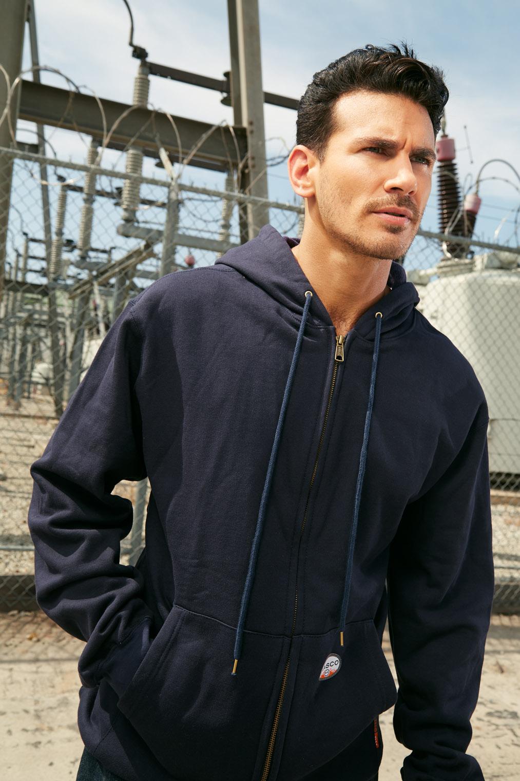 man in work shirt at power station workwear