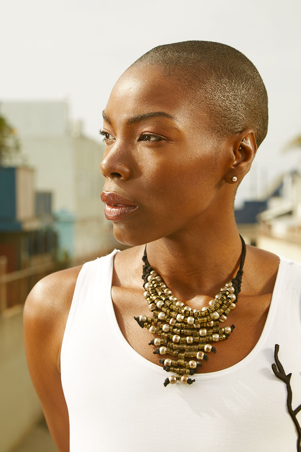 black woman in glowing high end portrait photographed in California