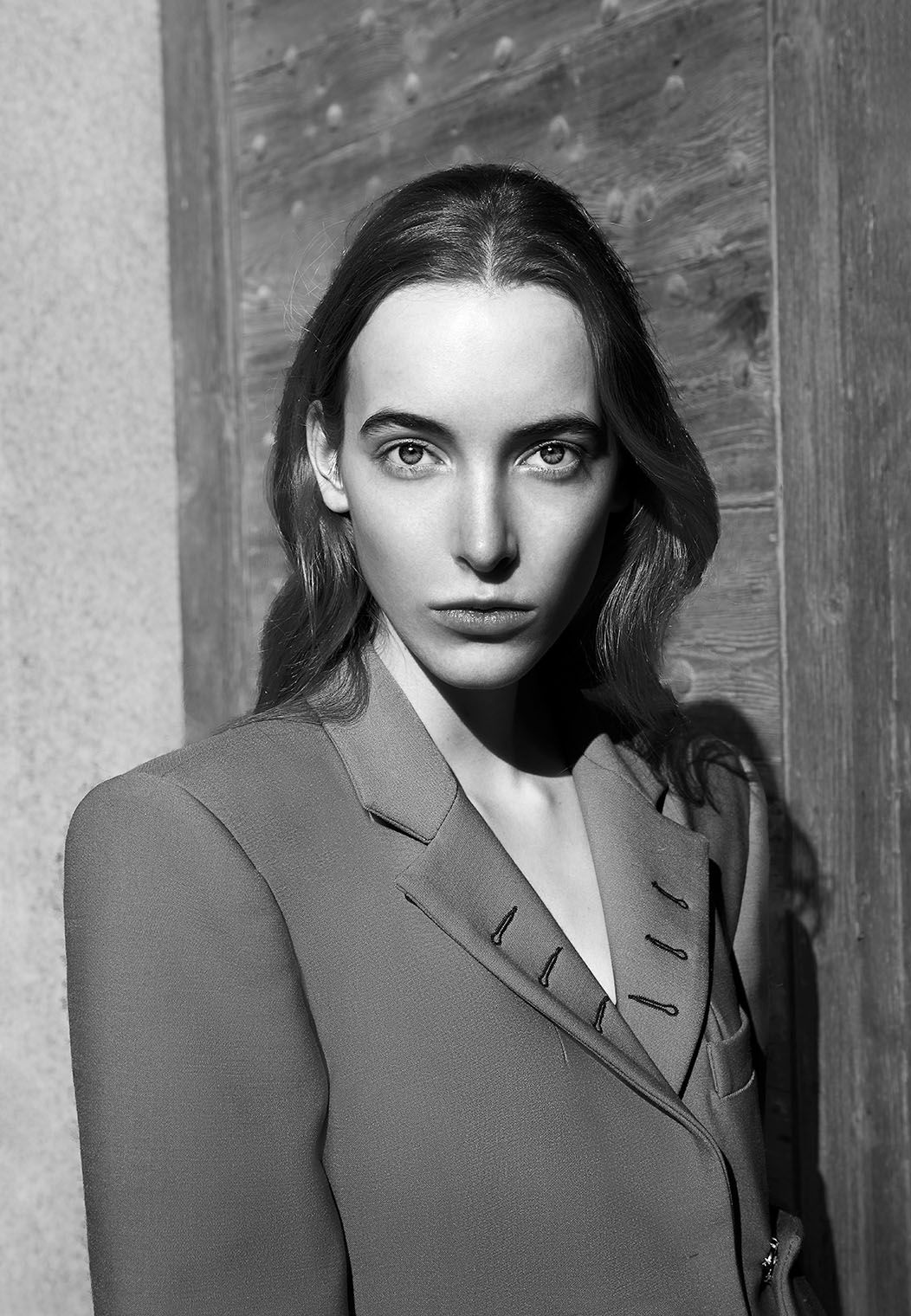 intense female portrait in black and white by Los Angeles and New York photographer Robert Wilde