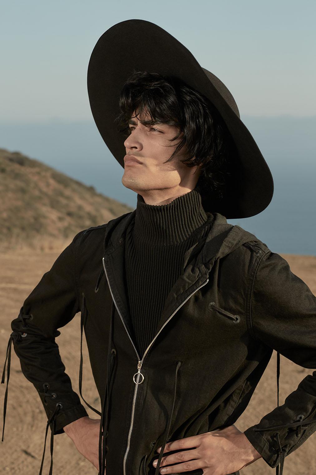 man in sombrero portrait photograph